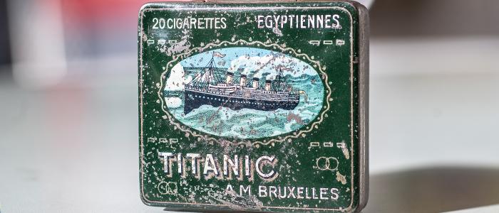 Verpackungsmuseum Titanic Metallbox