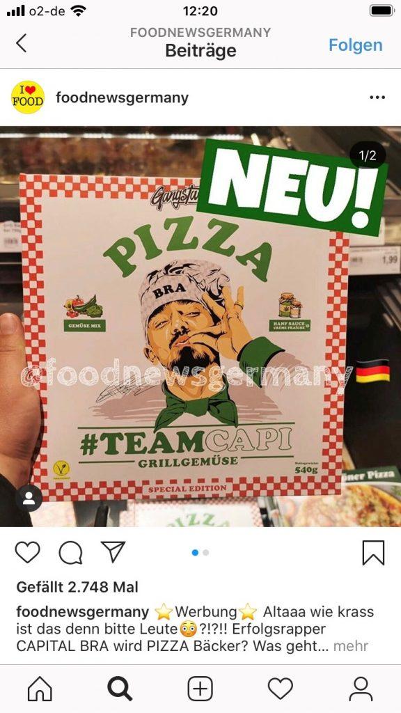 foodnewsgermany Capital Bra Pizza